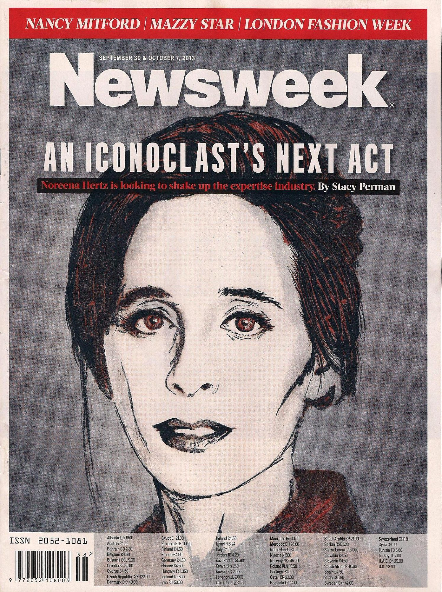Noreena on the cover of Newsweek